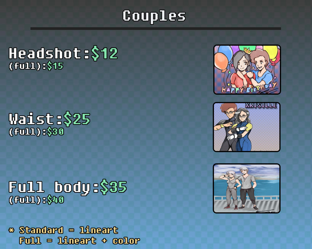 Commission Pricing for Couples by Unleashed360