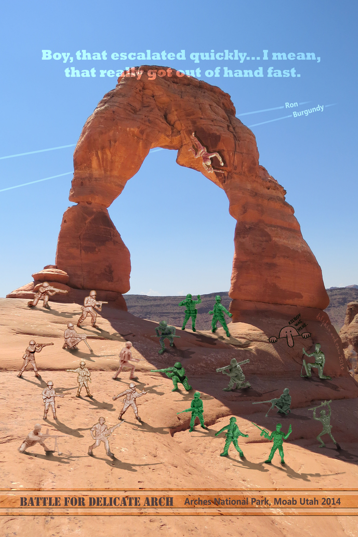 Battle For Delicate Arch by dolphinandcow