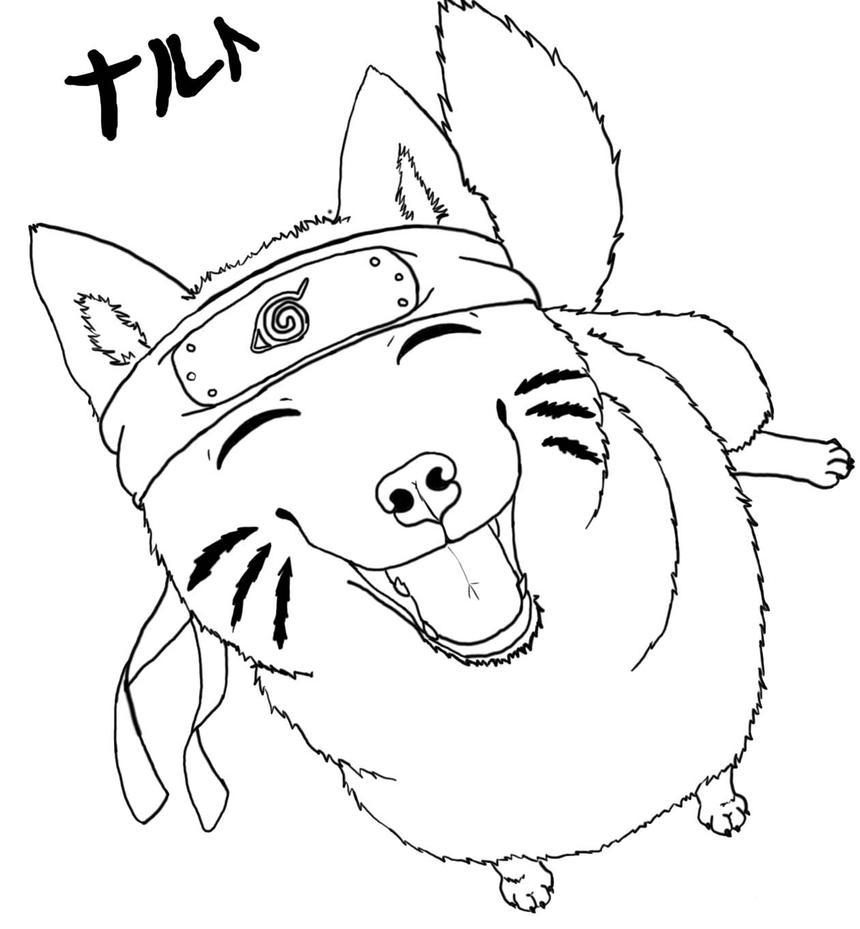 Line Drawing Wolf : Naruto wolf lineart by neji hyuga on deviantart