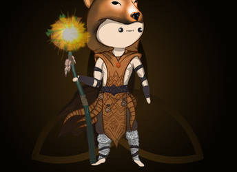 Cute Chibi Druid from Heroes of Might and Magic 5 by KreatywnKasztan