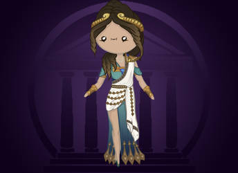 Cute Chibi Hera, The Queen of the Gods from SMITE by KreatywnKasztan