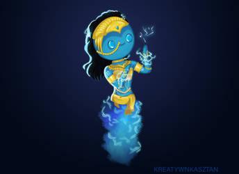 Cute Chibi Djinn - Heroes of Might and Magic 7 by KreatywnKasztan