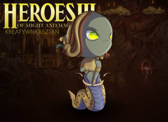 Cute Chibi Medusa - Heroes of Might and Magic III by KreatywnKasztan