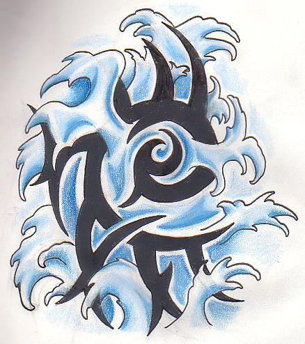 water element tribal by greenheethar on deviantart rh greenheethar deviantart com tribal water buffalo tattoo tribal water buffalo tattoo