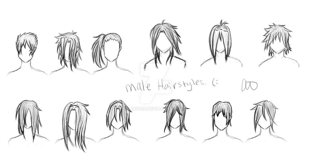 Male Manga Hairstyles By Ari3132 On Deviantart