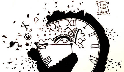 Inktober 2018 day 14- Clock by DivadonaaDance