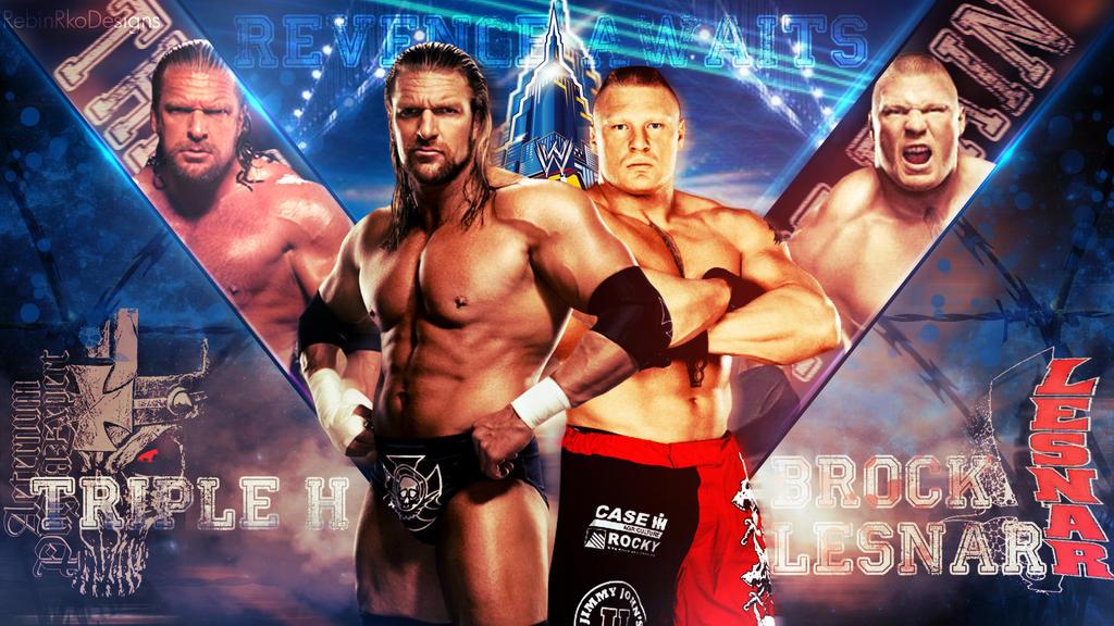 Triple H Vs Brock Lesnar Wrestlemania 29 By RebinJericho