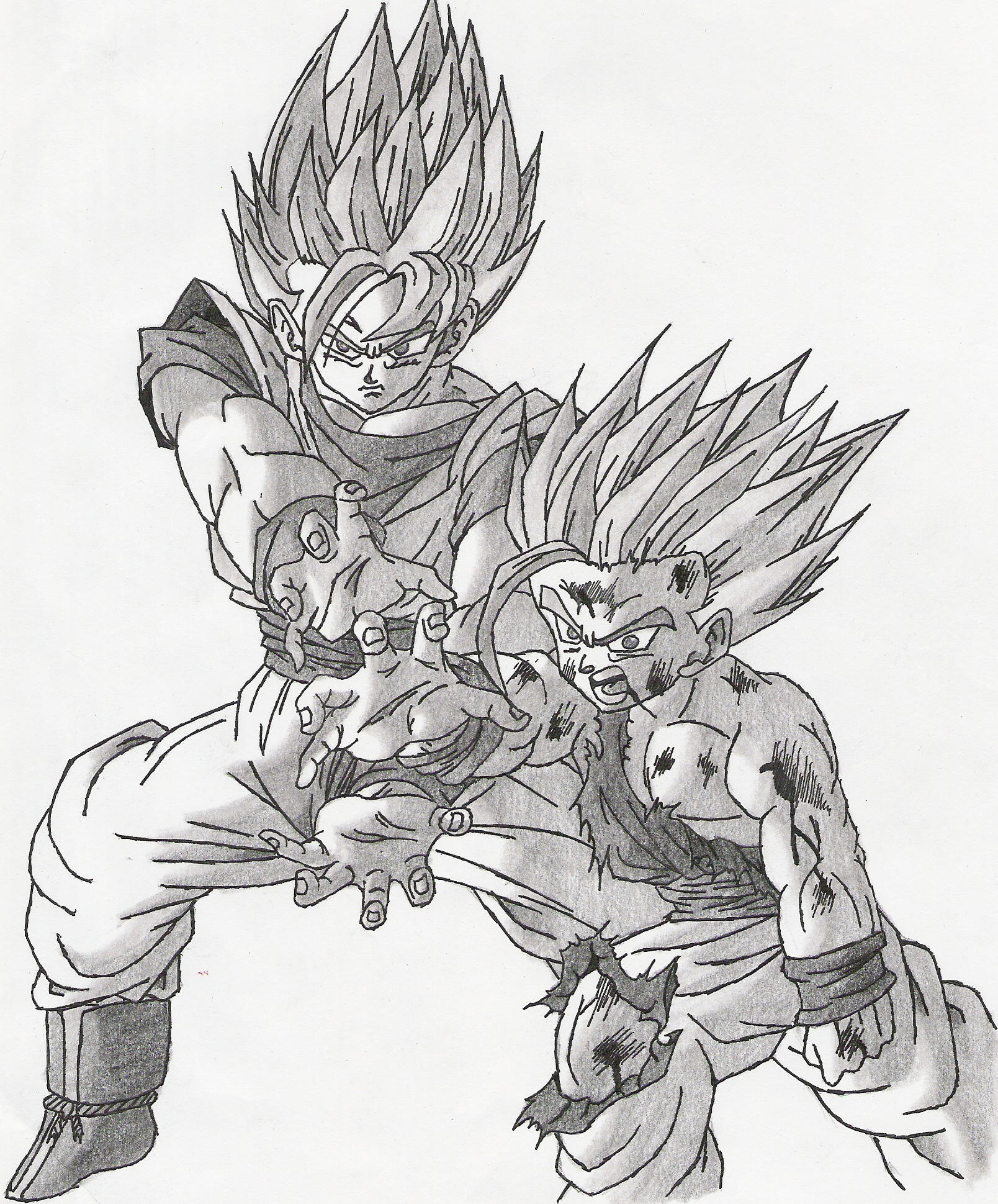 Goku-Gohan Finishing Cell Pt.1 by Sketcher6138 on DeviantArt - photo#22