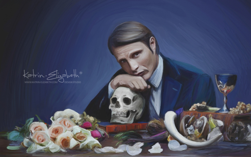Mads Mikkelsen as Hannibal by Katrin-Elizabeth