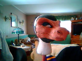 Dragon Norah Fursuit Resin Head Sculpt