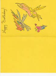 Rainbow Dash and Fluttershy Birthday Card (side 1)