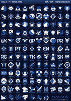Halo 4 Foreground Emblem Chart by SKCRISIS
