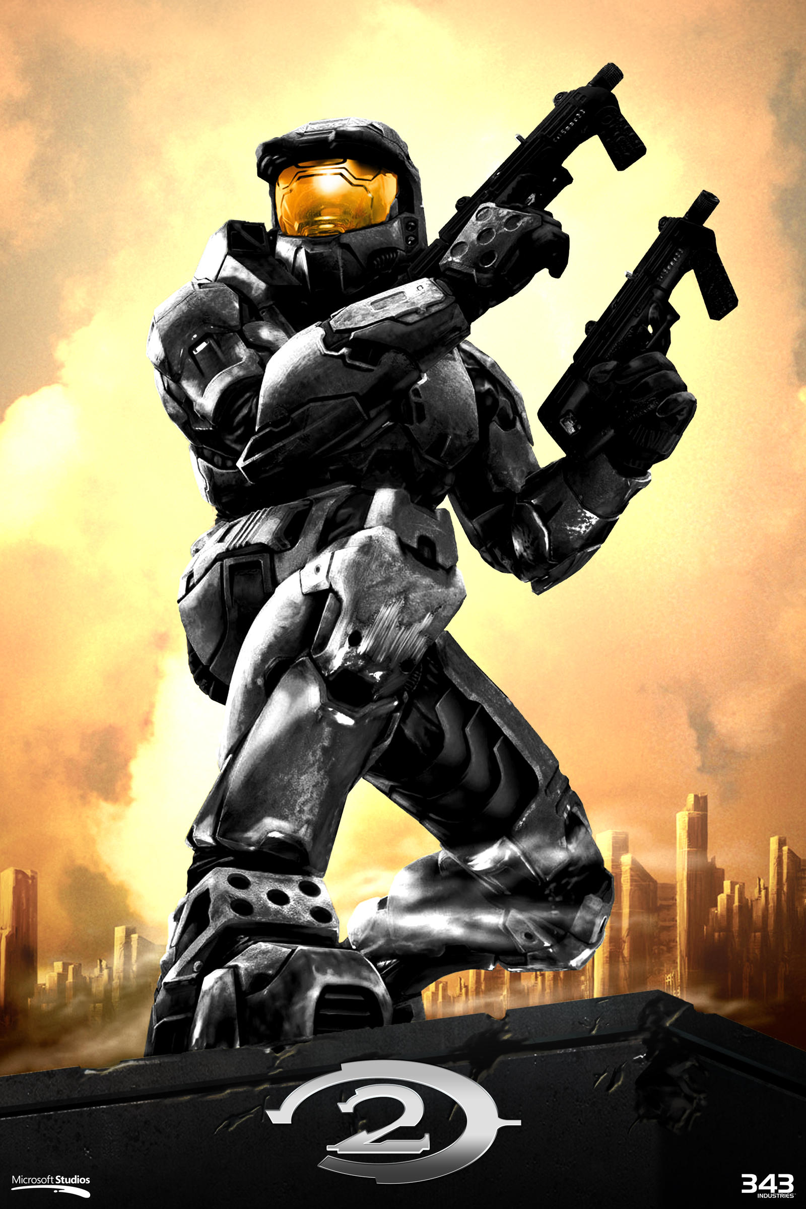 Halo 2 Poster Anniversary Style by SKCRISIS on DeviantArt