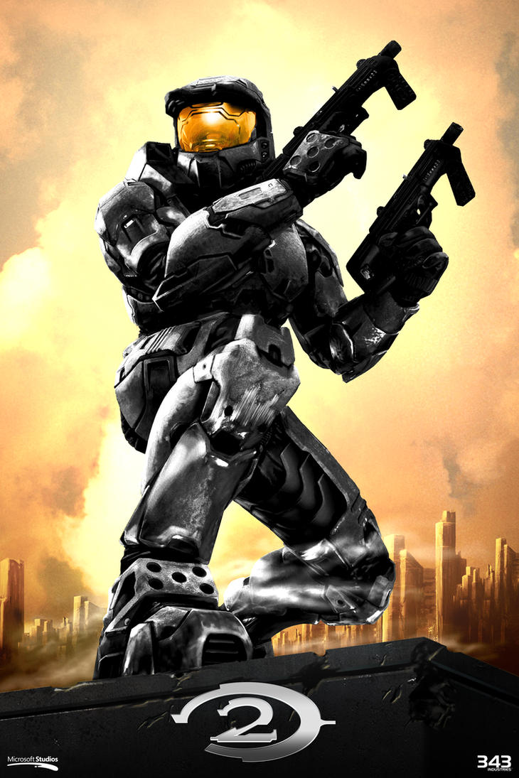 Halo 2 Poster Anniversary Style by SKCRISIS