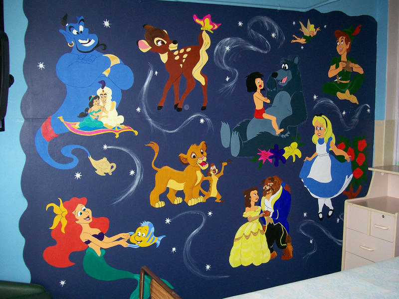 Disney mural by argobargo on deviantart for Character mural