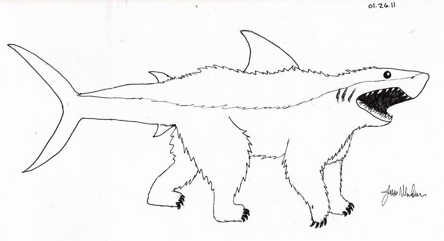 Shark hybrid drawing - photo#44
