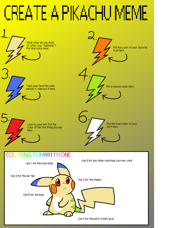 Create a pikachu meme by anapkmn chan on deviantart