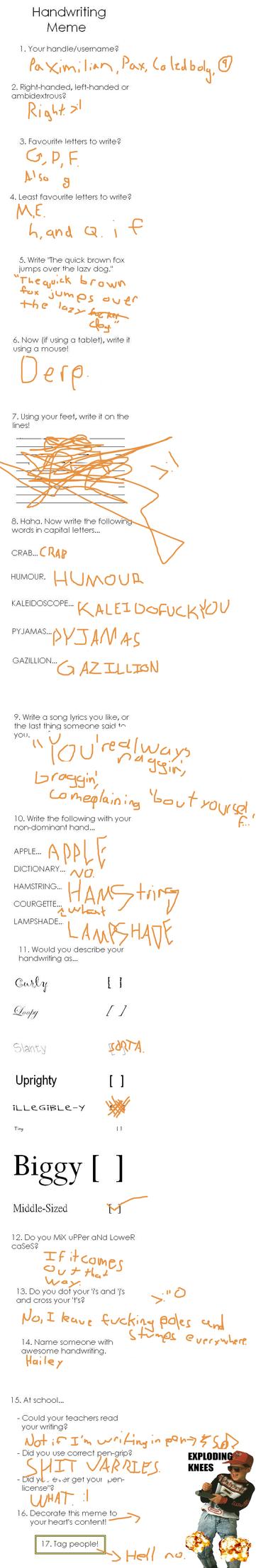 Handwriting Meme. by Sir-Pax