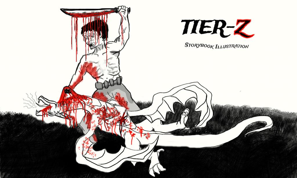 Fallen Angel - 'Tier-Z' Storybook Illustration by Brendan-Franklin13