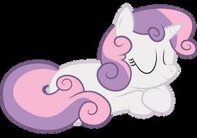 Sweetie Belle Snooze by MrFoxington
