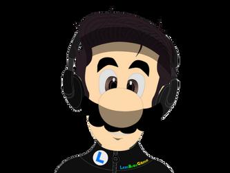 Half Luigi and Half Me. By LemMarioLuigiRacer by LemMarioLuigiRacer
