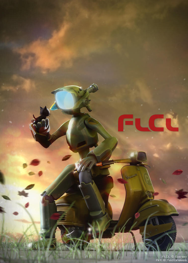 FLCL - Canti and Takkun by Zombie-Graves