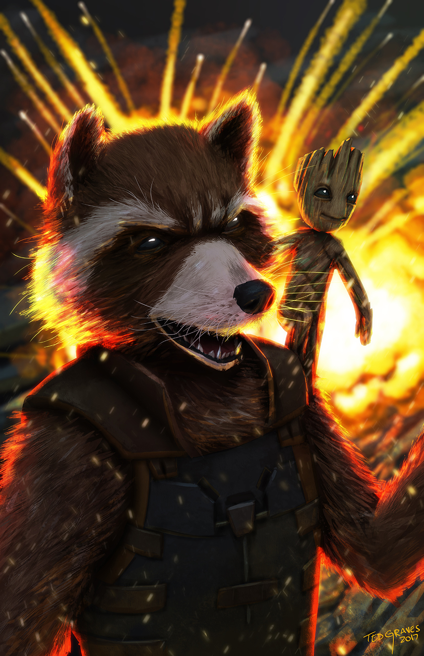 Rocket Raccoon by Zombie-Graves