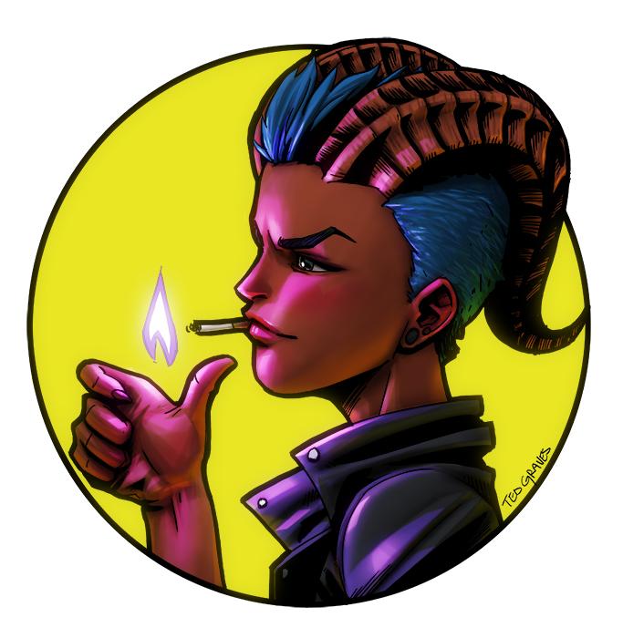 Smoking Savina by Zombie-Graves