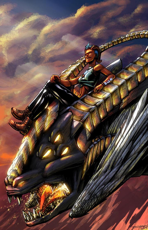 Savina's Dragon by Zombie-Graves