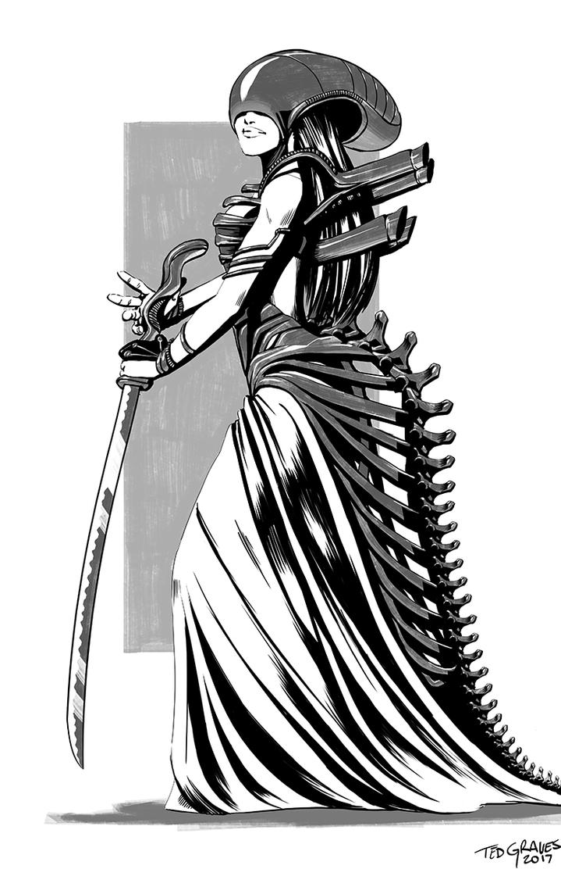 Alien Dress Inks by Zombie-Graves