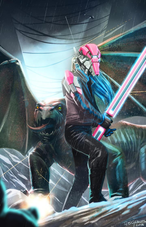 Cyborg Dragon by Zombie-Graves