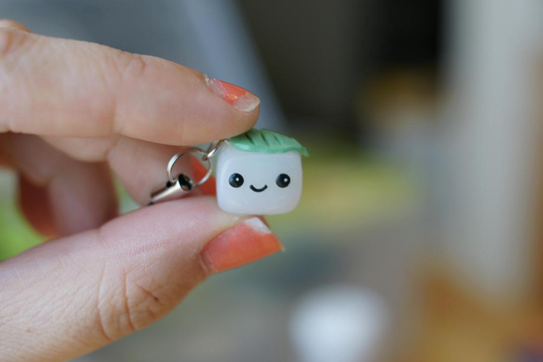 Tiny Tofu Charm by ChloeeeeLynnee97