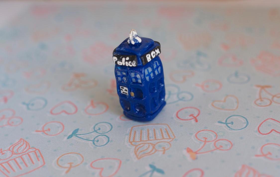 First TARDIS Charm by ChloeeeeLynnee97