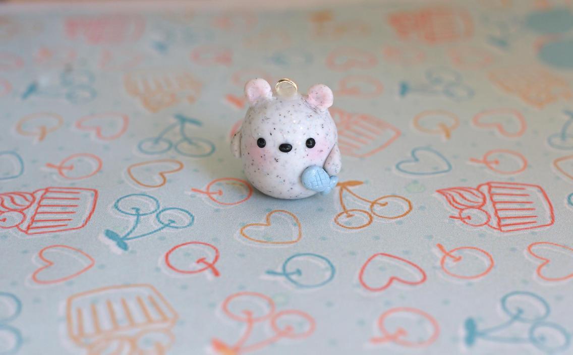 Tiny Polar Bear Charm by ChloeeeeLynnee97