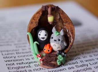 Ghibli Walnut Home by ChloeeeeLynnee97