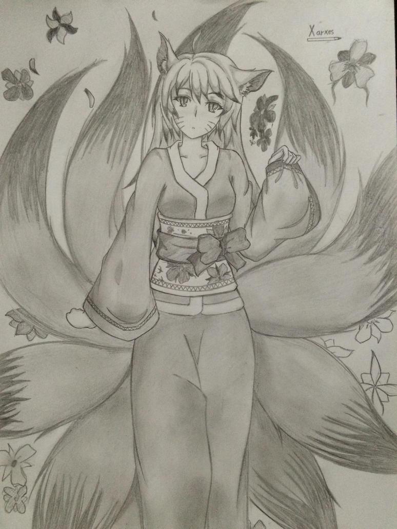 Friend's OC: Nine Tailed Fox by XarxesBreak