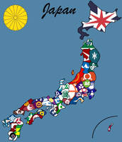 The 47 prefectures of Japan by SteamPoweredWolf