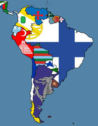 Alternate Flags of South America by SteamPoweredWolf