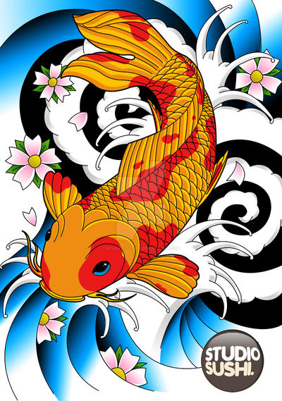 Koi Carp by Stuart-Dillon