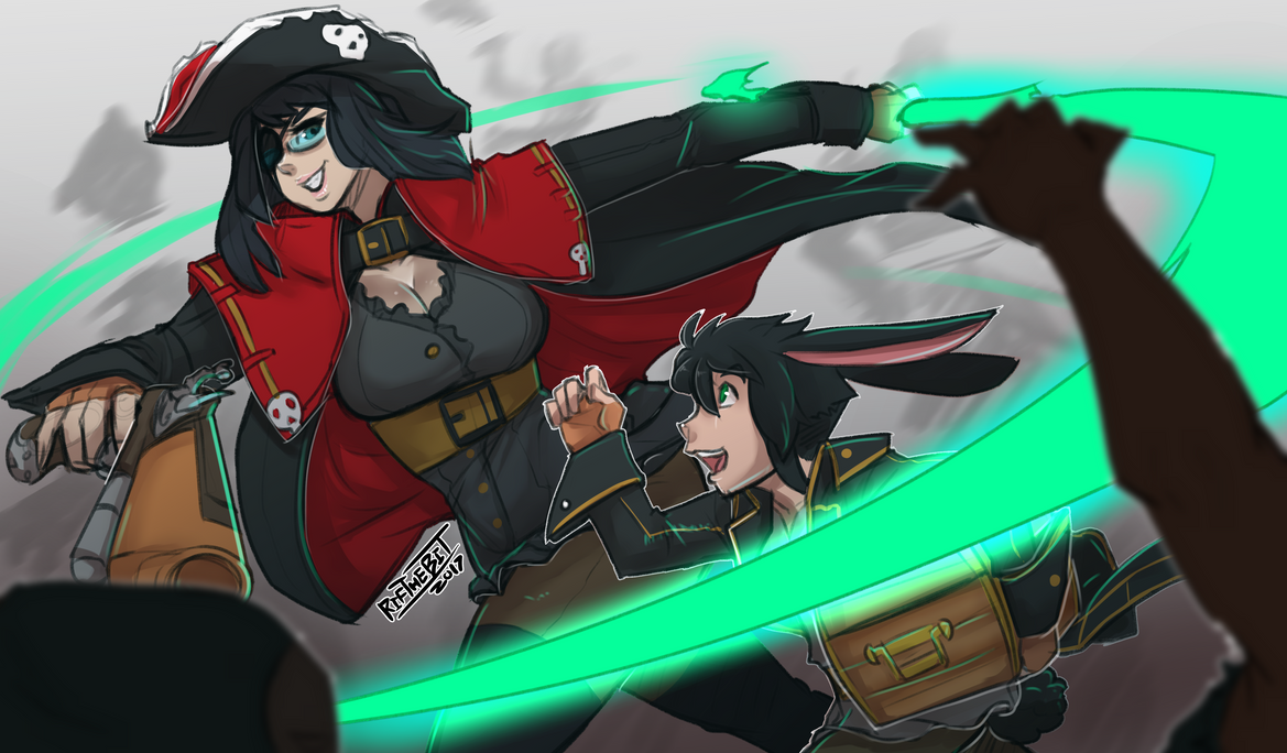 Rylea and Rif (Pirate timeline) by RifTheBit