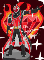 The Magician of Hope! MagiWizard! by SuperSentaiHedgehog