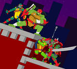 TMNT 35th Anniversary: Rise (2018) (Red version)