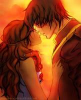 First Kiss - Zutara by SaberMay