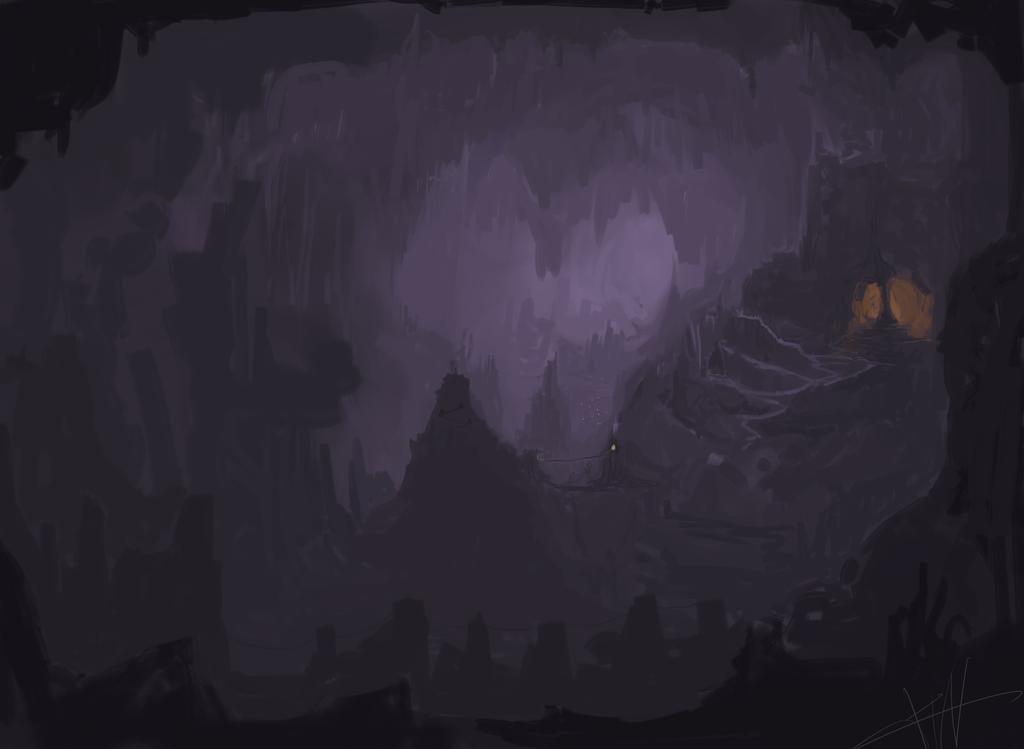 ♕ SPIRIT BRINGERS: EMPYREAN REALM. (SAGA DE UNUKALHAI) - Página 21 Dark_cave_by_galvin_wolf-d6k61g5