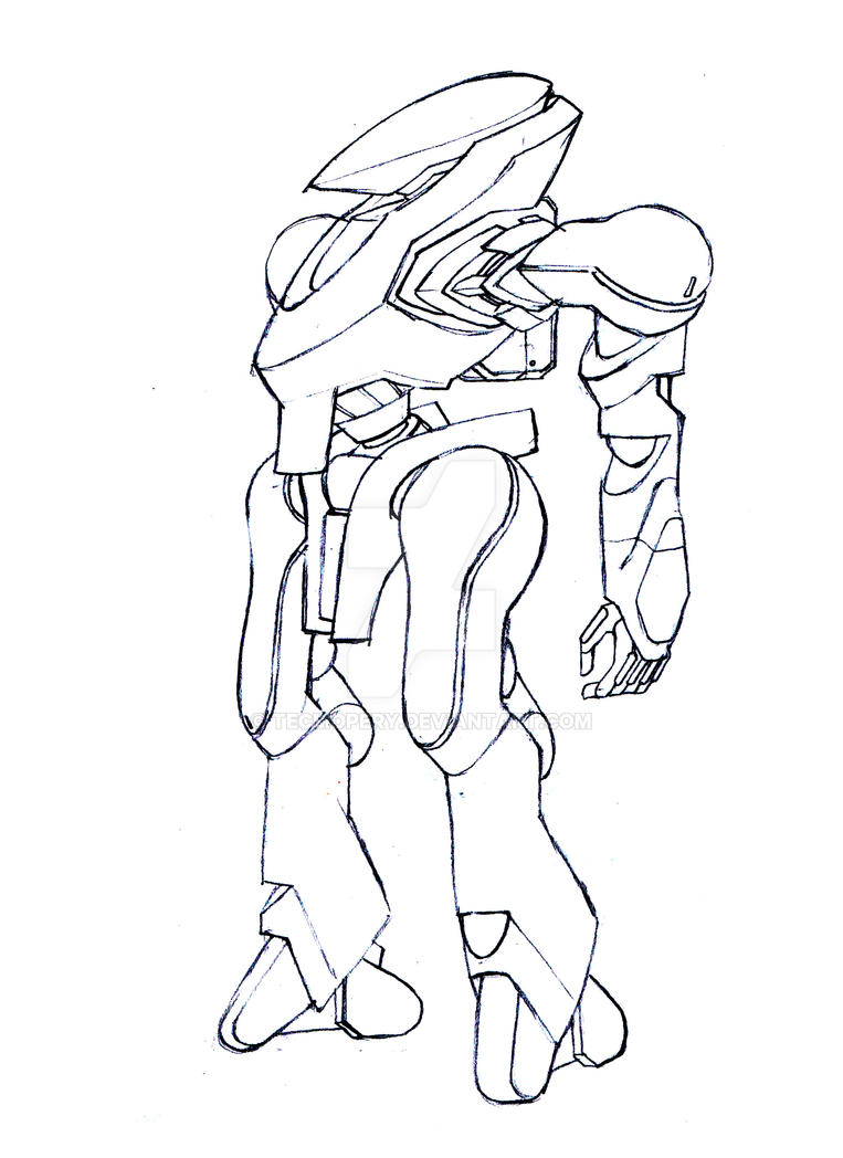 Mecha Drawing Practice #02 : Safari Mecha by Tecmopery