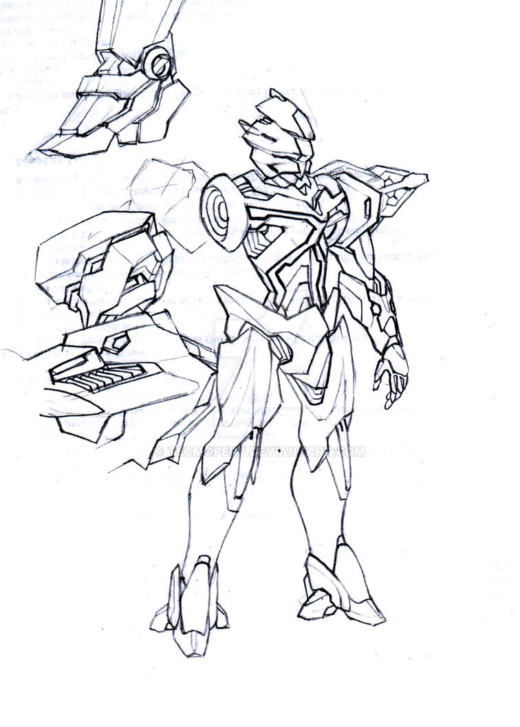 Mecha Drawing Practice #01 by Tecmopery