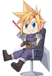 Cloud playing video games