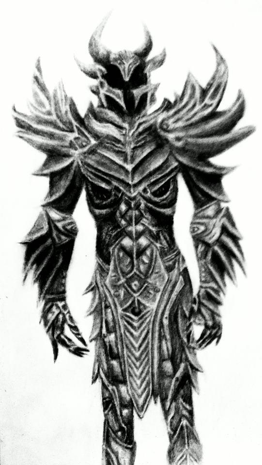 Daedric Armor by lifeasanart