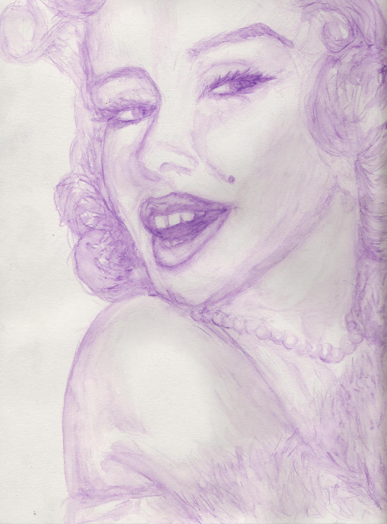 Marilyn in Violet by lifeasanart