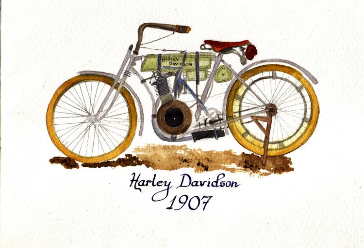 HARLEY DAVIDSON 1907 by inoxdesign